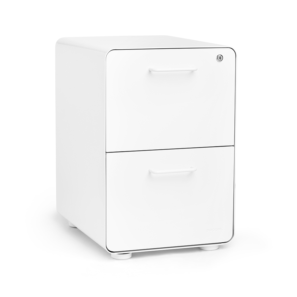 White Stow 2Drawer File Cabinet  Poppin