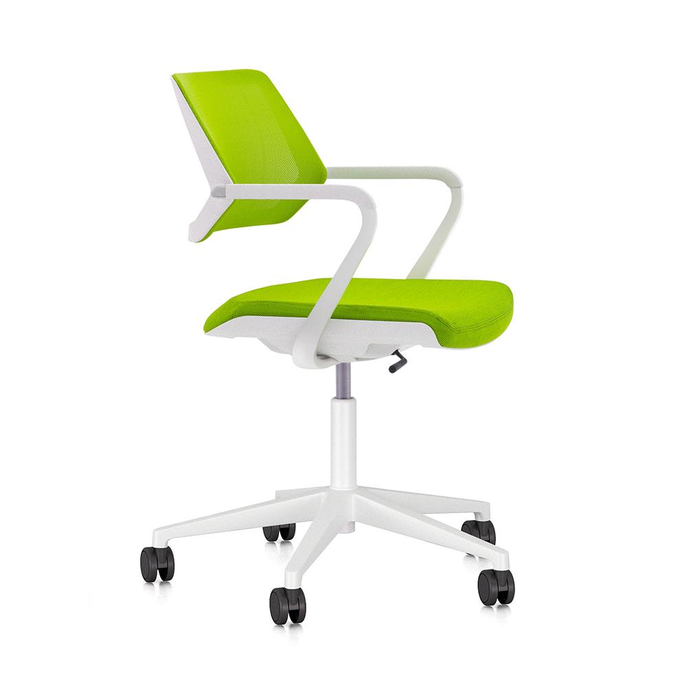 Lime Green Qivi Desk Chair Modern Office Furniture  Poppin