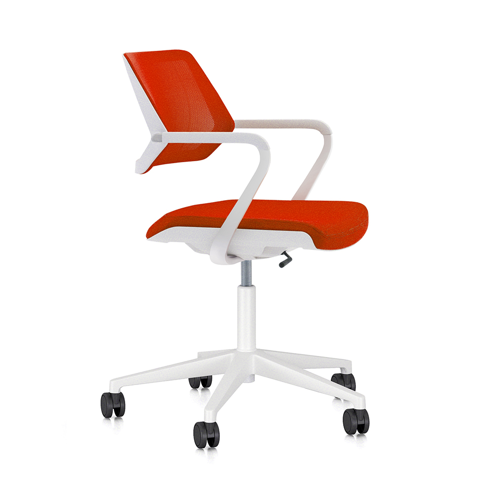 Red Desk Chair Red Qivi Desk Chair Modern Office Furniture Poppin