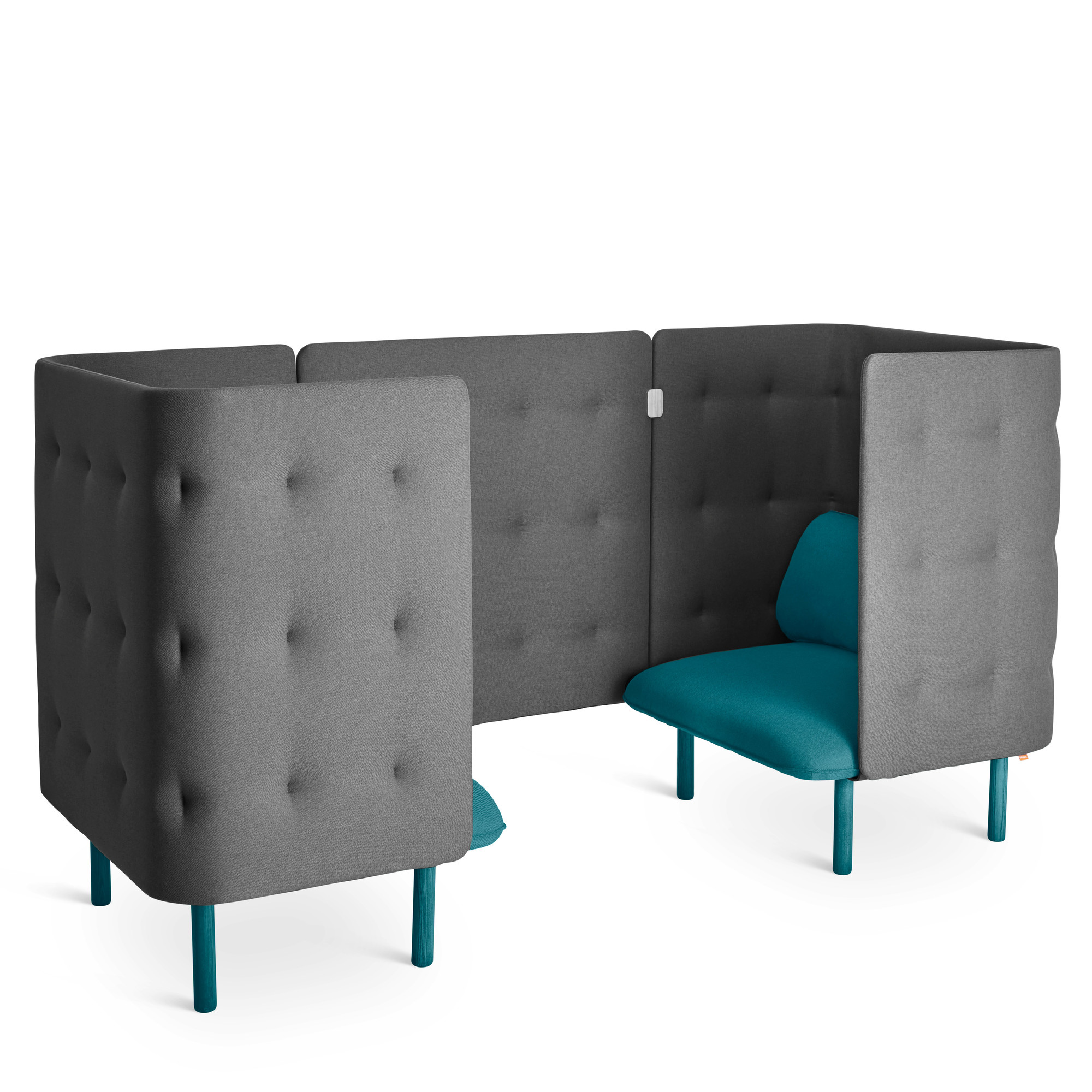 teal colored chairs restaurant free shipping dark gray qt chair booth lounge poppin