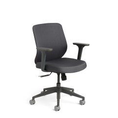 Office Desk Chairs Bath For Babies Argos Computer Home Furniture Poppin Dark Gray Max Task Chair Mid Back Charcoal Frame Hi