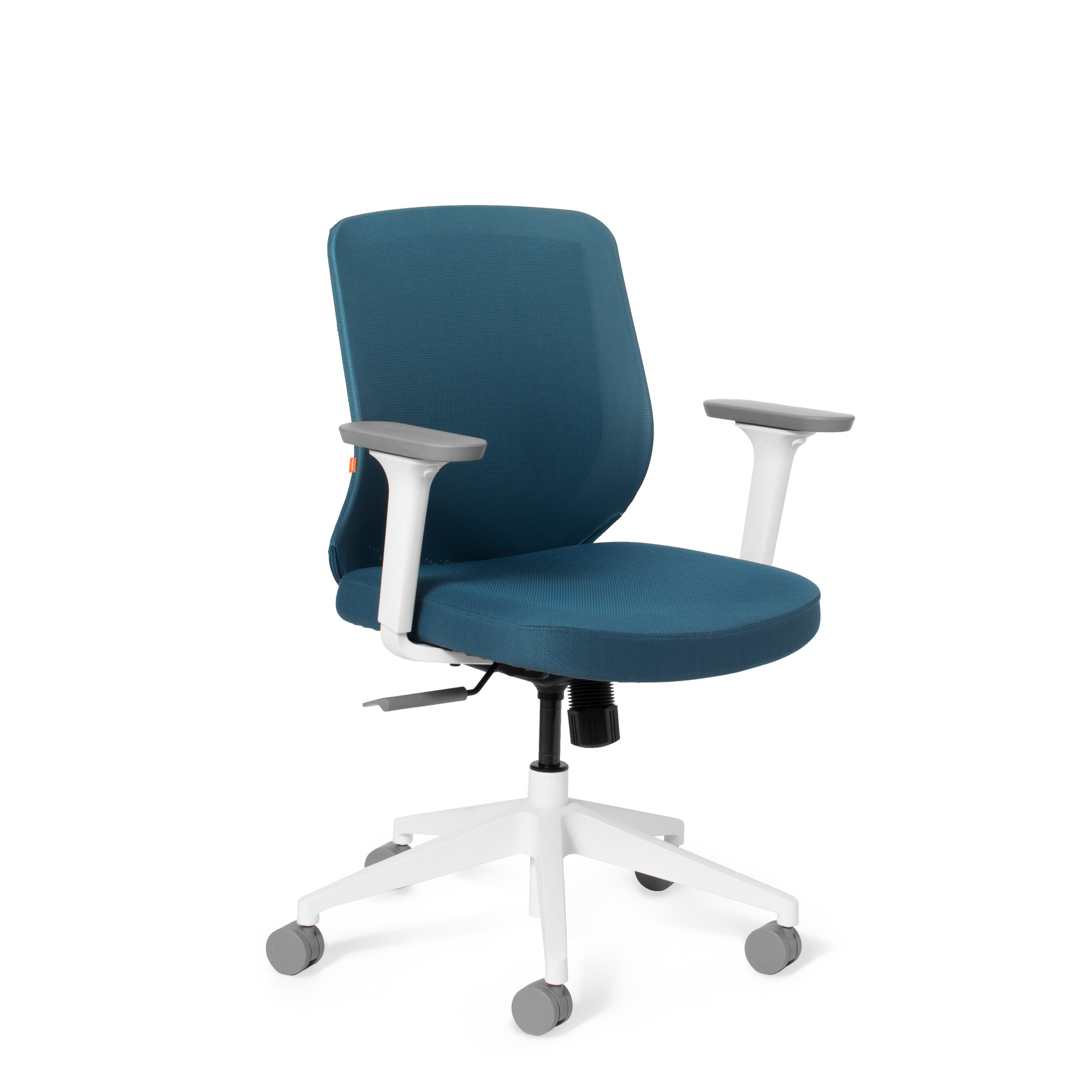 Slate Blue Max Task Chair Mid Back White Frame