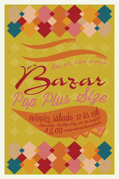 4ª edição do Bazar POP Plus Size acontece dia 14 de setembro no Espaço Zebra, em São Paulo