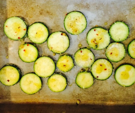 Zucchini in the pan!