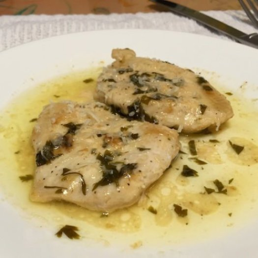 d Chicken fillets with Lemon and Parsley poppopcooks.com