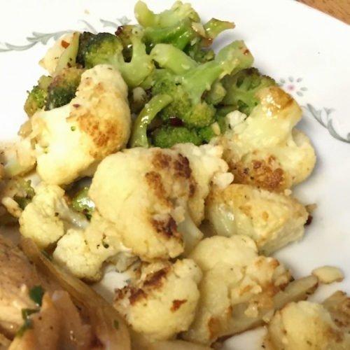 Sauteed Cauliflower and Broccoli poppopcooks.com