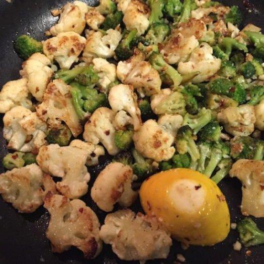 Sauteed Cauliflower and Broccoli4 poppopcooks.com
