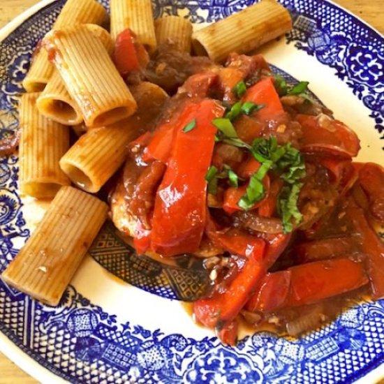 Chicken Peperonata poppopcooks.com