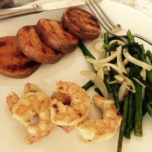 Stovetop Grilled Shrimp poppopcooks.com