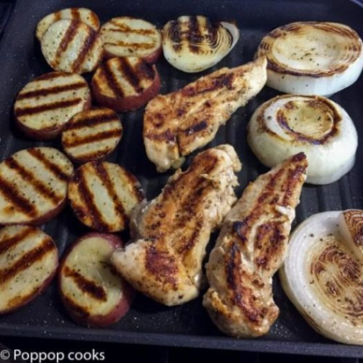 One Pan Grilled Chicken Meal-4-poppopcooks.com