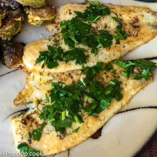 Oven Baked Lemon Parsley Flounder-8-poppopcooks.com