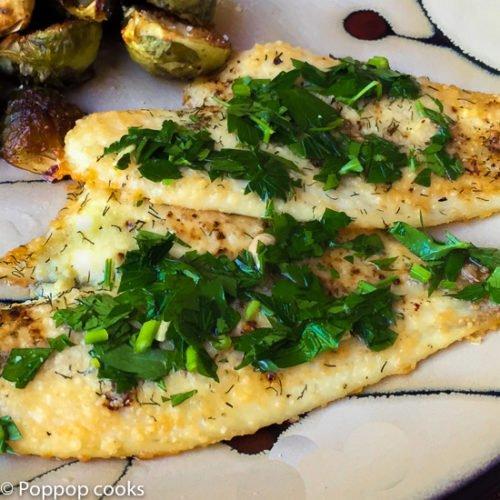 Oven Baked Lemon Parsley Flounder-9-poppopcooks.com