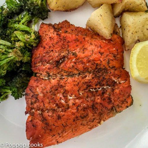 15 minute Weeknight Salmon-4-poppopcooks.com