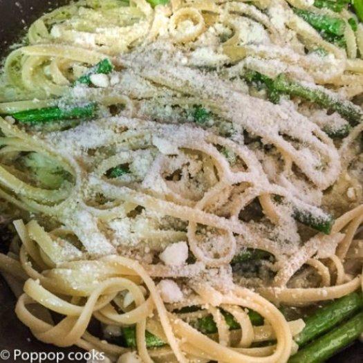 Asparagus Linguine-5-poppopcooks.com
