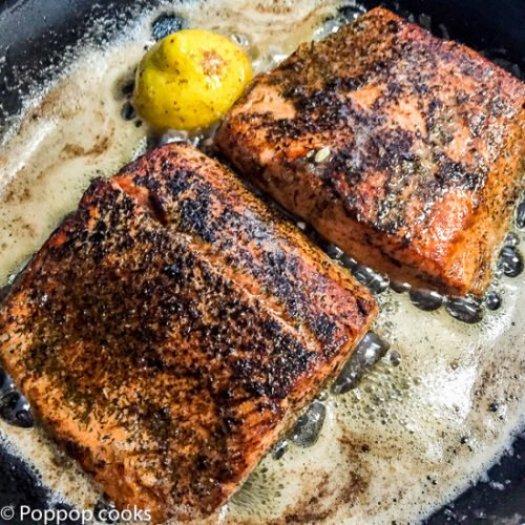 Salmon Sauteed in Lemon Butter-3-poppopcooks.com