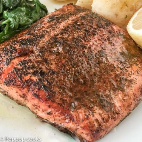 Salmon Sauteed in Lemon Butter-4-poppopcooks.com
