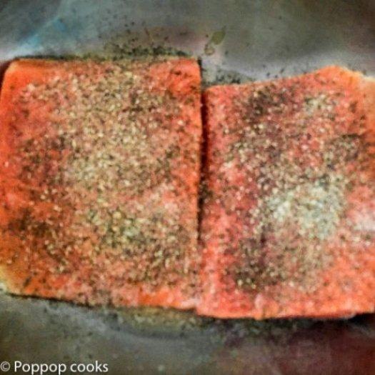 Salmon Sauteed in Lemon Butter- poppopcooks.com