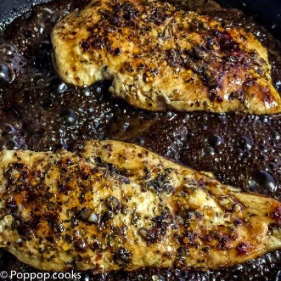 Sauteed Chicken Caprese Style-4-poppopcooks.com