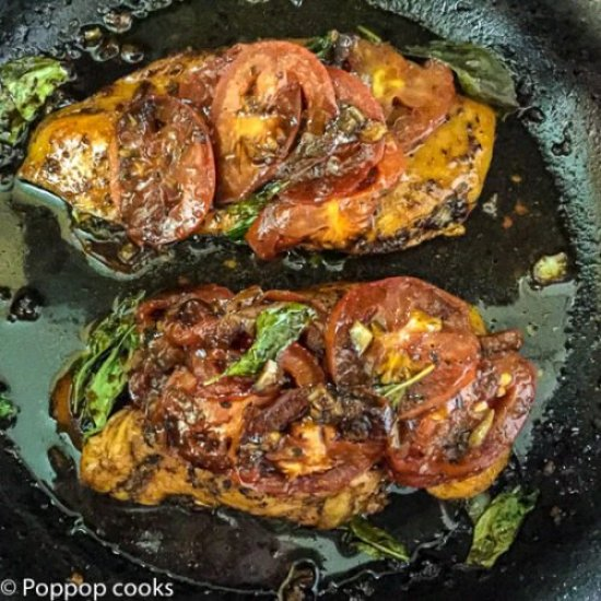 Sauteed Chicken Caprese Style-7-poppopcooks.com