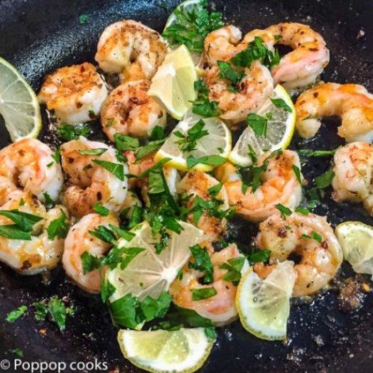 Spicy Lemony Shrimp-5-poppopcooks.com