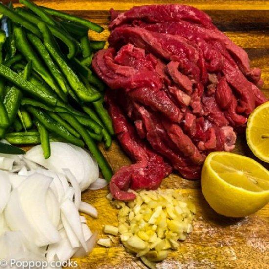Beef Fajitas-2-poppopcooks.com