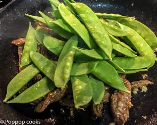 Stir Fried Beef and Snow Peas-2-poppopcooks.com