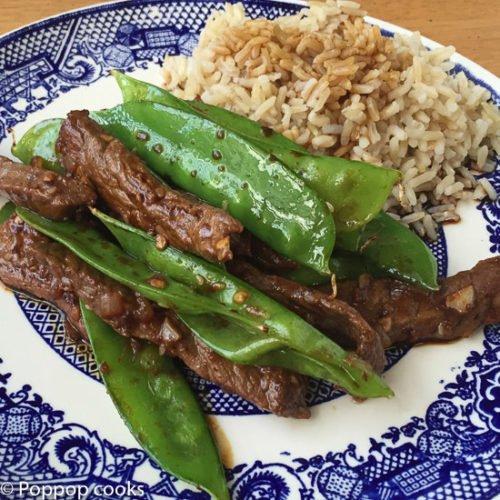 Stir Fried Beef and Snow Peas-5-poppopcooks.com