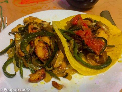 One pot chicken fajita tacos-poppopcooks.com