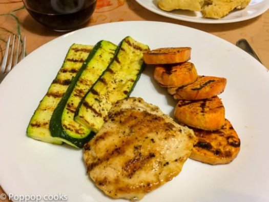 Quick Easy Grilled Chicken Dinner-quick and easy-one pot-gluten free-poppopcooks.com