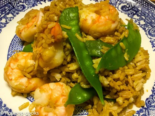 Shrimp Fried Rice with Snow Peas-one-pan-gluten free-11-poppopcooks.com