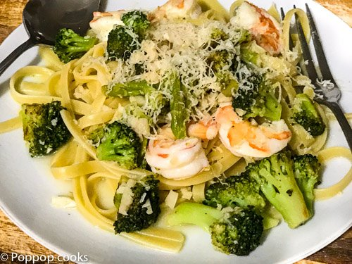 Garlic Shrimp and Broccoli-4-poppopcooks.com-quick and easy recipes-shrimp recipes-quick and easy shrimp recipes