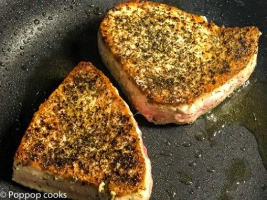 Pan Seared Tuna Steak-7-poppopcooks.com seared tuna-quick and easy-tuna recipes-gluten free recipes