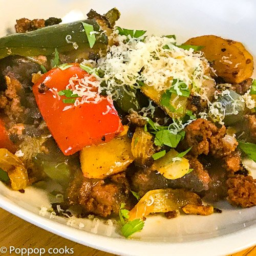 chorizo dinner-8-poppopcooks.com-chorizo-margaritaville-mexican food-gluten free-quick and easy-paleo