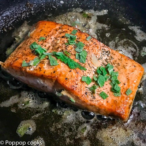 lemon mint salmon-3-poppopcooks.com-seafood-salmon recipe