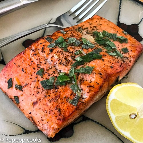 lemon mint salmon-4-poppopcooks.com-seafood-salmon recipe