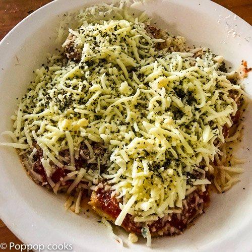 microwave chicken parmesan-2-poppopcooks.com-chicken parmesan-quick and easy Italian-gluten free-paleo