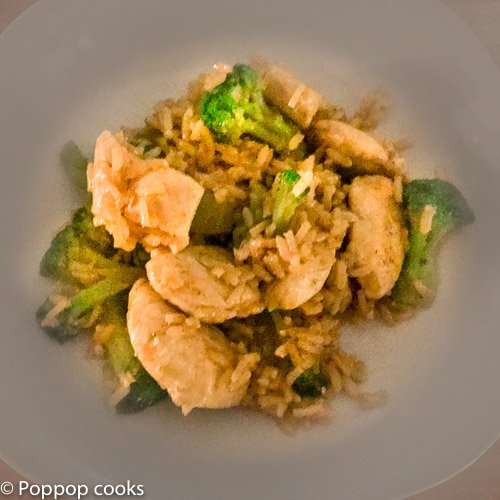 Stir Fried Chicken Broccoli and Rice_-8-poppopcooks.com-quick and easy-chinese-chicken-broccoli-fried rice