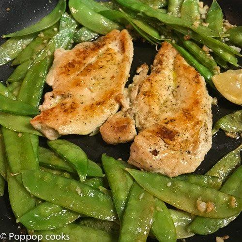 25 Minute Weeknight Chicken Dinner-4-poppopcooks.com-quick and easy-one skillet-gluten free