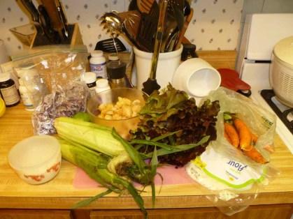 1 baja fish salad setup