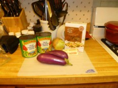 Sauce & eggplant ingredients