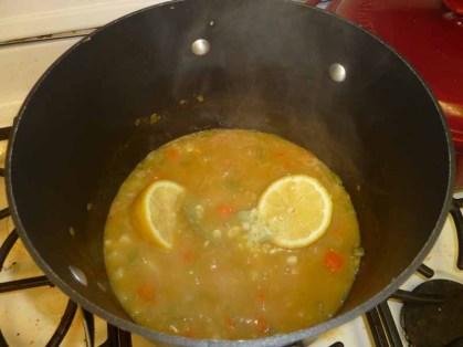 Bay Leaves, Lemon & Garlic Added