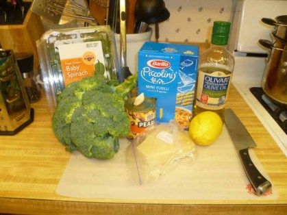 Broccoli Pesto & Fusilli Ingredients