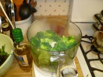 Broccoli Goes In The Food Processor