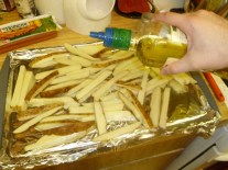 Adding Olive Oil To Fries