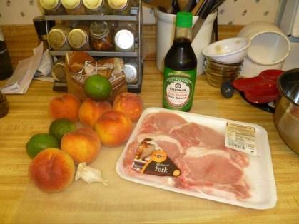 Grilled Pork Chops N Peaches Ingredients