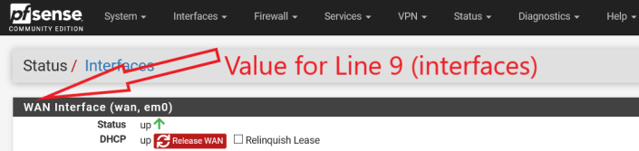 WAN Name for Line 9 in dshield.sample (to be renamed to dshield.ini)