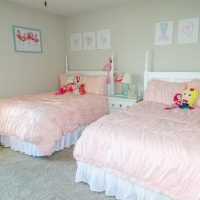 Mermaid + Flamingo Shared Girls' Bedroom