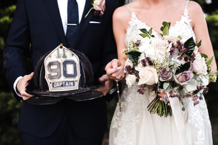 bride-bouquet-groom-fireman