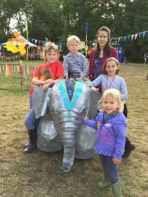 Robot elephant at Glastonbury Festival