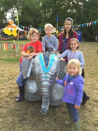 Robot elephant at Glastonbury Festival
